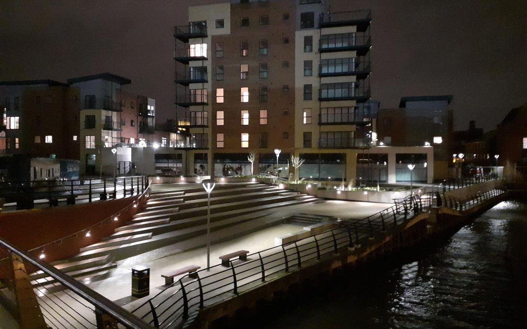 Our St Annes Quarter project is nearing completion of its waterfront plaza and is set to light up the riverfront!